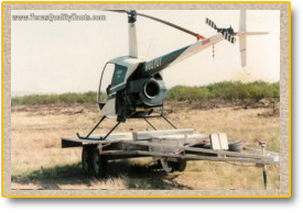 Texas Quality Hunts Helicopter